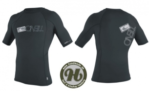 O´Neill Skins S/S Crew Rash Guard black - Limited Deal !