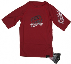 Billabong Featuring Rash Vest S/S red Kids