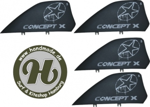 Concept X Kite Fin HC Black 5cm Set