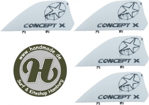 Concept X Kite Fin HC White 5cm Set