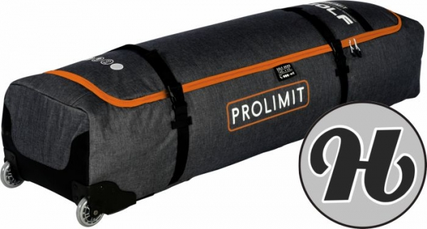 Prolimit Kitesurf boardbag Golf Aero Wheeled Black/Orange