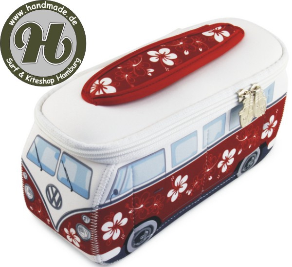 VW Collection T1 BUS 3D NEOPREN MÄPPCHEN - ROT/HIBISKUS