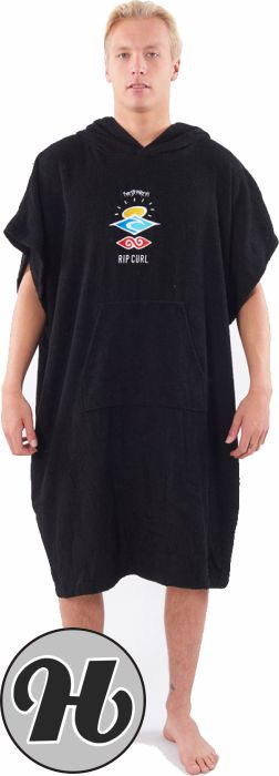Rip Curl Wet As Hooded Towel Washed Black