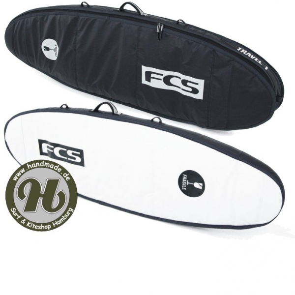 FCS Travel 1 Funboard Cover Black
