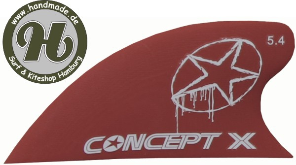 Concept X Kite Fin G10 Red 5.4 cm Curve