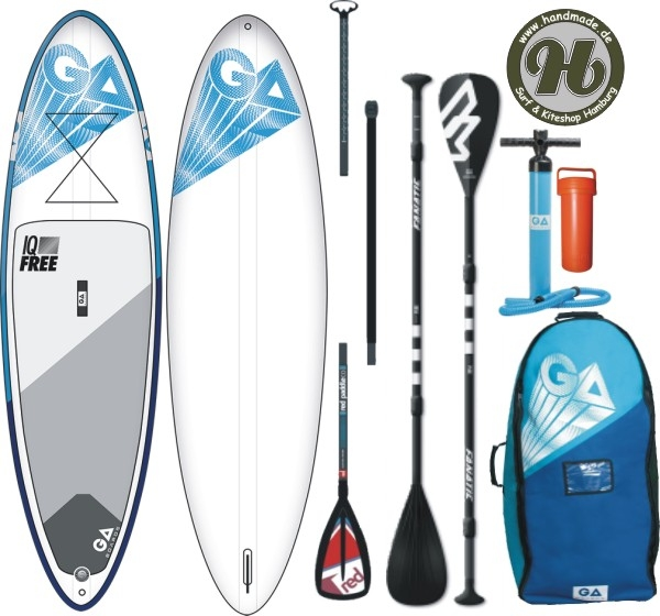 GA SUP IQ Free  Inflatable Airsup opt. Set Paddel 3pc - Limited Deal !