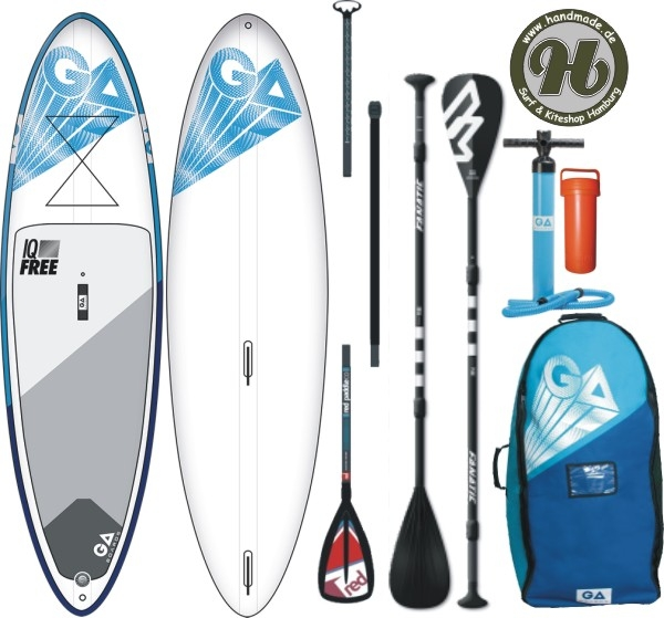 GA SUP IQ Free Windsurf  Inflatable Airsup opt. Set Paddel 3pc - Limited Deal !