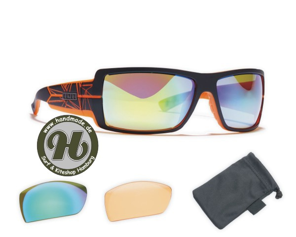 ION Sunglasses Icon Set Zeiss Black / Trans Orange