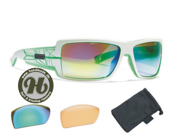 ION Sunglasses Icon Set Zeiss White / Trans Green