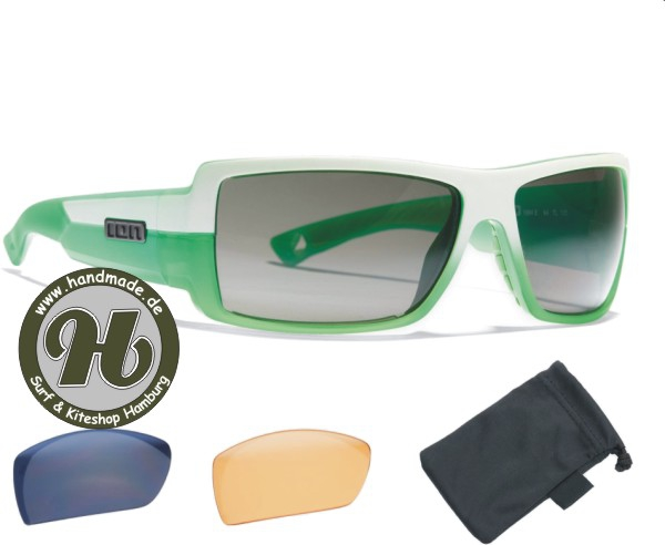 ION Sunglasses Icon Set White / Green