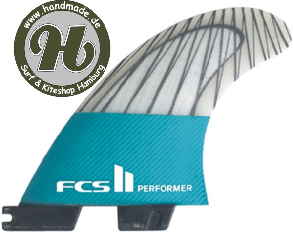 FCS II Performer PC Carbon Teal Tri Set
