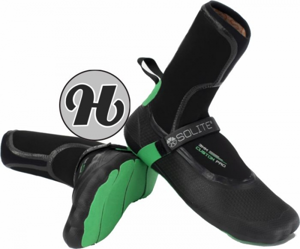 Solite 3mm Custom Pro Boots 2021 Black/Green inkl. Heat Booster Socks