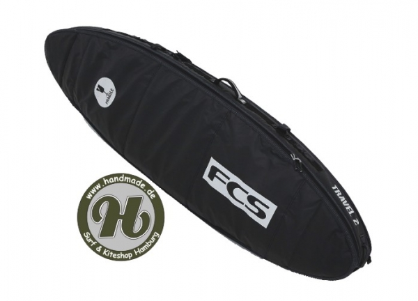 FCS Travel Double 2 Fun Board Black/Grey
