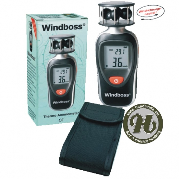 Ascan Windboss Windmesser Thermo Anemometer inkl. Tasche !