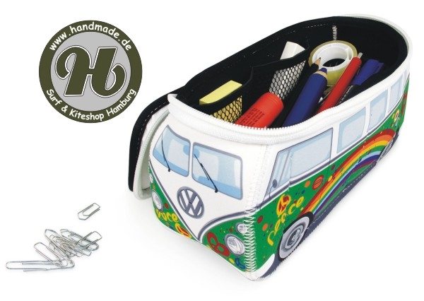 VW Collection T1 BUS 3D NEOPREN MÄPPCHEN - GRÜN/PEACE