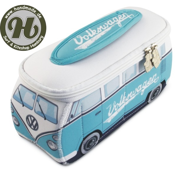 VW Collection T1 BUS 3D NEOPREN MÄPPCHEN - TÜRKIS